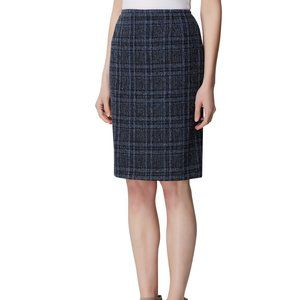 NWOT! Tahari ASL Plaid Tweed A Line Career Skirt
